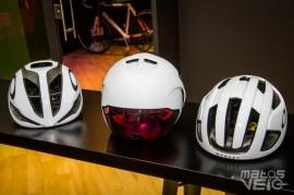 De gauche à droite sur la photo, le Aro 5, Aro 7 et enfin, Aro 3. 3 casques  qui couvrent la majeure partie des besoins des cyclistes sur route. 7f16b44c144d