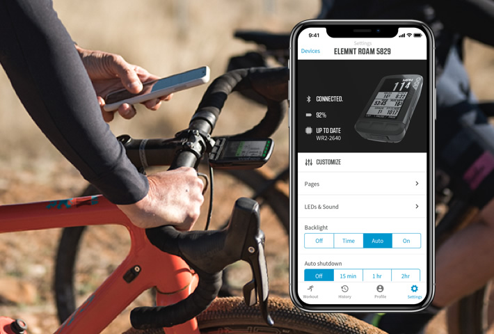 Nouveau GPS Wahoo ELEMNT ROAM, couleur et navigation