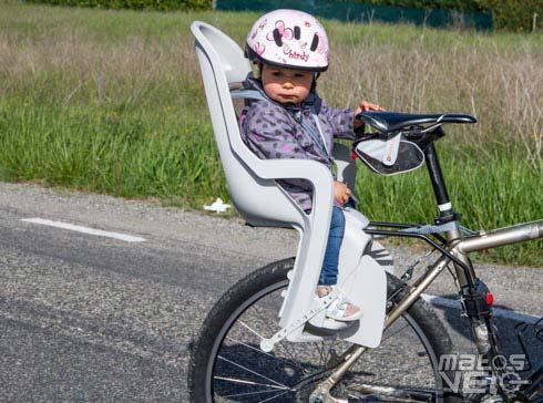 Test Du Portebébé Groovy Et Du Casque Enfant Birdy Matos Vélo - Porte bébé pour vélo