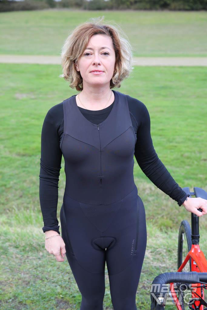 Essai féminin du collant quick zip et de la veste grand