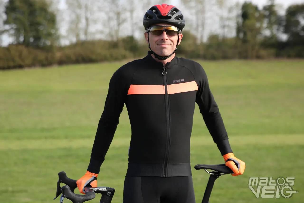 SantinI 365 Classe Manche Longue Maillot De Cyclisme-Noir